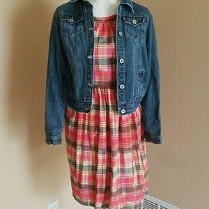 Land's End Dress Plaid Size 6